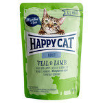 Happy Cat Pouches All Meat Adult Kalb & Lamm 85 g - 20 + 4 Aktion