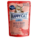 Happy Cat Pouches All Meat Adult Rind & Herz 85 g - 20 + 4 Aktion