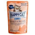Happy Cat Pouches All Meat Adult Truthahn & Seelachs 85 g - 20 + 4 Aktion