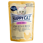 Happy Cat Pouches All Meat Junior Huhn & Ente 85 g - 20 + 4 Aktion