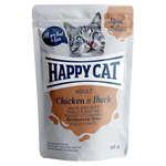 Happy Cat Pouches Meat in Sauce Adult Huhn & Ente 85 g - 20 + 4 Aktion