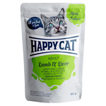 Happy Cat Pouches Meat in Sauce Adult Lamm & Leber 85 g - 20 + 4 Aktion