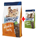 Happy Cat Supreme Adult Atlantik-Lachs 1,4 kg + Adult Weide-Lamm 300 g gratis