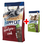 Happy Cat Supreme Adult Voralpen-Rind 1,4 kg + Adult Weide-Lamm 300 g gratis