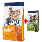 Happy Cat Supreme Indoor Adult Atlantik-Lachs 1,4 kg + Adult Weide-Lamm 300 g gratis