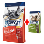 Happy Cat Supreme Indoor Adult Voralpen-Rind 1,4 kg + Adult Weide-Lamm 300 g gratis