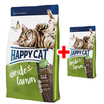 Happy Cat Supreme Indoor Adult Weide-Lamm 1,4 kg + Adult Weide-Lamm 300 g gratis