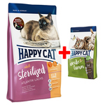 Happy Cat Supreme Sterilised Atlantik-Lachs 1,4 kg + Adult Weide-Lamm 300 g gratis