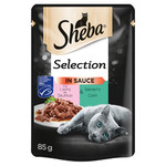Sheba Delikates Duo Selection mit Lachs & Seelachs in Sauce 85 g - 24 Stück